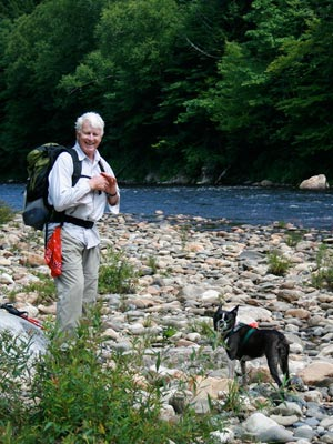 Human and canine visitors alike enjoy the watershed
