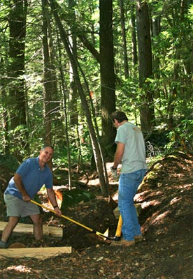"Glendale Falls volunteers working on the ""One Step at a Time"" project"